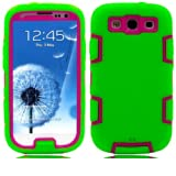 myLife (TM) Lime Green and Pink - Robot Armor Series (3 Piece Neo Hybrid Flexi Case + Urban Body Armor Glove)... by myLife Brand Products