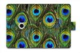 For Apple iPad Mini /Mini 2 / Mini Retina Folio Case Magnetic PU Leather Cover With Multi Smart Stand - Peacock eyes am-18382