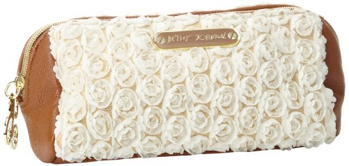 Betsey Johnson BS52715,Cosmetic Case,Cream,One Size