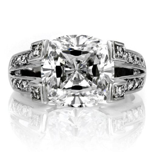 Diamond Engagement Rings Discount Elizabeth s Fake Engagement Ring CZ