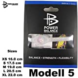 Original Silcone Power Balance Bracelet also for Everyday Life or Athletes Sportsman/woman in XS S M L XL, size:XL;Modell:Modell 5