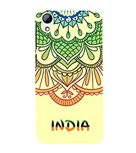 India is Great Cute Fashion 3D Hard Polycarbonate Designer Back Case Cover for HTC Desire 728 Dual Sim :: HTC Desire 728G Dual Sim