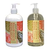 Island Ginger Mango Butter Shea Butter Hand & Body Lotion And Island Ginger Mango Butter Shea Butter Hand Soap Duo Set 16 Oz Each By Greenwich Bay Trading Co.