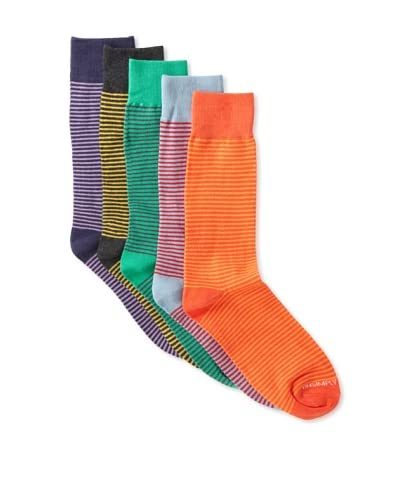 Unsimply Stitched Men's Assorted Combed Cotton Blend Socks (5 Pairs)