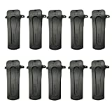 Tenq® 10 X Belt Clip for Baofeng Radio H777 Bf-666s Bf-777s Bf-888s Bf-999s