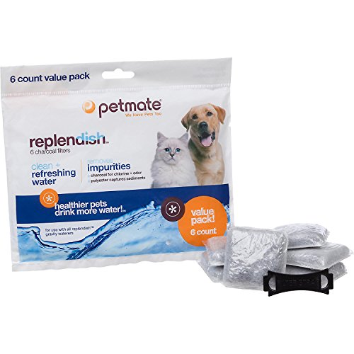 Petmate Replacement Filters for Replendish Auto-Watering Systems, Pack of 6 filters (Watering System For Pets compare prices)