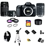 Canon EOS 60D DSLR Camera with 3 Canon Lens Pro Pack: Includes - Canon EF-S 18-135mm f/3.5-5.6 IS Lens - Canon Zoom Telephoto EF 75-300mm III - Canon EF 50mm f1.8 II Autofocus Lens, Also Includes Deleuxe Backpack, 2 Extra Batteries & Travel Charger, 16GB SDHC Card & Card Reader, 3 Piece Pro Filter Kit with 2 Extra UV Filters and much more...