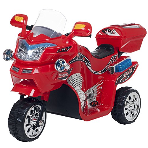 Ride on toy 3 wheel motorcycle trike for kids by rockin for Motorized cars for older kids