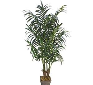 Phoenix with No Pot Bird Nest Silk Plants THREE 6/' Artificial Palm Tree Yucca