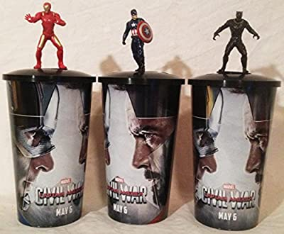Captain America: Civil War Movie Theater Exclusive Cup Topper Set #1