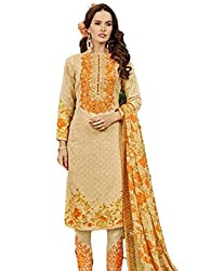 Bhavya Collection Women's Cotton Unstitched Dress Material (BC04_MultiColour_Free Size)