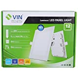 Vin LED Panel Light SLP12-12Watt (White,Warm White)