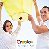 Chinese Flying Sky Lanterns, Paper Wish Lanterns - for Festivals, Weddings, Backyard Parties, -20 Pack, Assorted Colors- By Creatov®