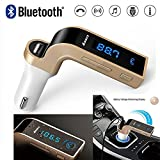 #7: Rewy CARG7 Bluetooth Car Charger 2.5A With Turbo Charging LCD Bluetooth Car Charger FM Kit MP3 Transmitter USB Handsfree Mobile,(Free Aux Cable) - Assorted Color