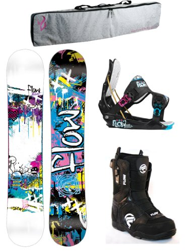 Flow Velvet Women's Complete Snowboard Package with Flow Gem Bindings and Flow Lotus Boots -Board Size 149 - 2013