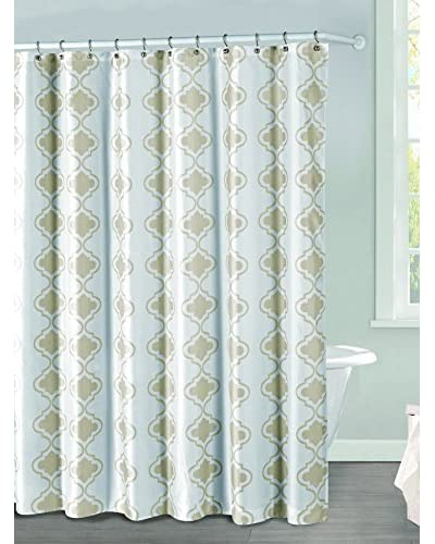 Duck River Textile Crystal Shower Curtain, Tan