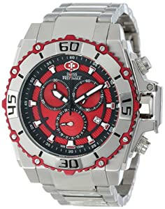 Swiss Precimax Men's SP13175 Tactical Pro Red Dial Silver Stainless-Steel Band Watch