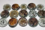 Geocache Glass Trading Stones - Watch Face / Steampunk Gears