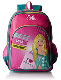 Simba 14 Inches Pink And Blue Children's Backpack (IBTS-1256)