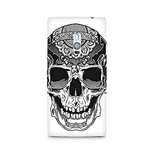 Mobicture Skull Abstract Premium Designer Mobile Back Case Cover For OnePlus Two