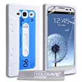 """Yousave Accessories� Samsung Galaxy S3 Tasche Wei� Kassette Silikon H�lle Mit Displayschutzvon """"Yousave Accessories�"""""""