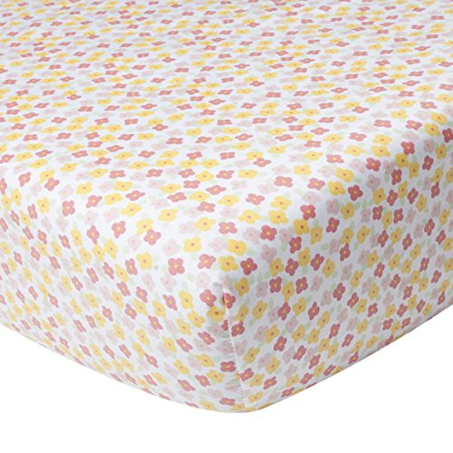 Kidsline Fanciful Floral Fitted Sheet, Floral Toss