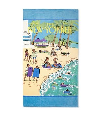 The New Yorker Beach Scene Beach Towel