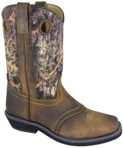 Smoky Mountain 6360 Women's Pawnee Square Toe Boot Brown Oil Distress/Camo