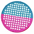 """CanDo 10-0859 Hand Exercise Web, Low Powder, Multi-Resistance, 14"""" Diameter, Red/Blue"""