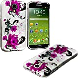 myLife (TM) Glossy Magenta Flowers and Vines Series (2 Piece Snap On) Hardshell Plates Case for the Samsung Galaxy... by myLife Brand Products