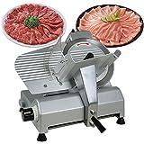 "Zeny® 19x 18.7x 16.5 Inch Pro Commercial 10"" Steel Blade 240w 1/3hp Kitchen Electric Food Slicer 0-17mm Heavy Duty for Meat Chopper Butcher Cutter Equipment Deli Shop"