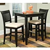 Bedford Square Bistro Table with 2 Stools - Black