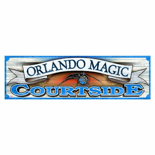 NBA Orlando Magic 9-by-30 Wood Sign