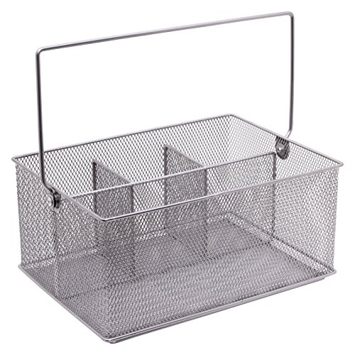 Design Ideas Design Ideas Condiment Caddy Mesh Silver