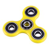 #6: Fidget Spinner All Metal Bearings Durable Hard Plastic Efficient Hand Tri Spinner (Yellow)