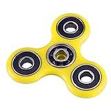 #6: Fidget Spinner All Metal Bearings Durable Hard Plastic Efficient Hand Tri Spinner (Yellow)