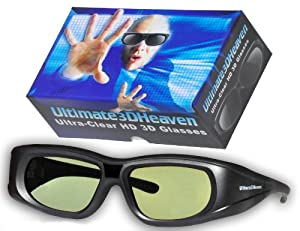 Adult Epson ELPGS03 3D Glasses 3D Heaven Rechargeable Compatible 3-D Glasses by 3DHeaven