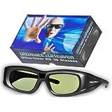 SHARP 3D BLUETOOTH 2013 3D Glasses 3D Heaven Rechargeable Compatible AN-3DG40 3-D Glasses (Sharp HE AN3DG40)