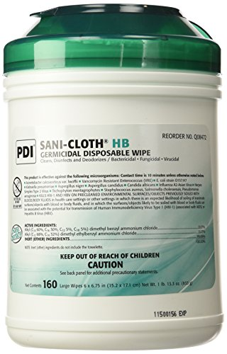 pdi-sani-cloth-hb-germicidal-disposable-wipes-6-x-6-3-4-1-pack-of-160-133-oz