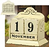 Country French Calendar ~ Exclusive Country French Wooden Perpetual Calendar ~ thumbnail