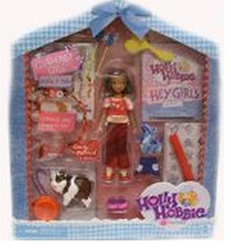 Holly Hobbie Clubhouse Girls Amy Morris Doll & Cheddar Figure - 1