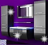 Badmöbel Set Badezimmermöbel Komplett Set Waschbeckenschrank mit Waschtisch Spiegel 2