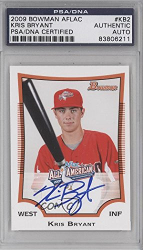 kris-bryant-psa-dna-certified-auto-authenticated-authentic-baseball-card-2009-bowman-aflac-all-ameri