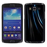 TopCaseStore Snap On Hard Back Shell Rubber Case Protection Skin Cover Lines Black Velvet Fabric Fashion Samsung Galaxy Grand 2 SM G7102 SM G7105