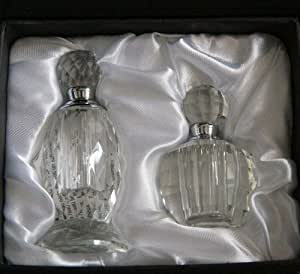 Amazon.com: Oleg Cassini Crystal Perfume Bottle Set of 2 ...