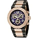 Invicta Men's 6765 Reserve Collection Chronograph 18k Rose Gold-Plated and Black Stainless Steel Watch by Invicta