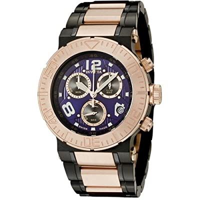 Invicta Men's 6765 Reserve Collection Chronograph 18k Rose Gold-Plated and Black Stainless Steel Watch