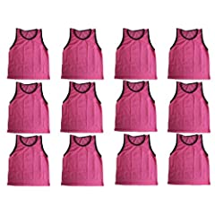 BlueDot Trading Youth Sports Pinnies High Quality Scrimmage Training Vests (12-Pack),... by Bluedot Trading