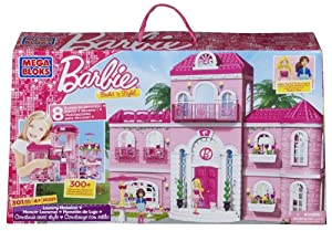 Mega Bloks Barbie Build 'n Style Luxury Mansion, Multi Color