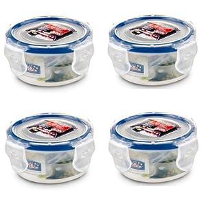 (Pack of 4) Lock & Lock, BPA Free, Food Storage Container, 100% Water Tight, Short, 3... by LockandLock